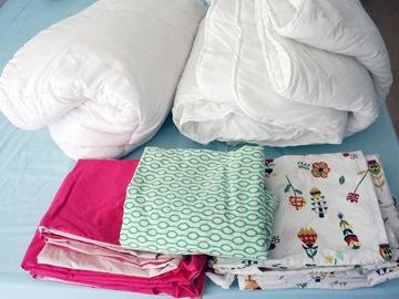 Donación de productos: Edredones y sábanas